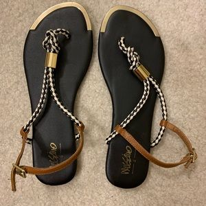 Mossimo Black Rope Sandals